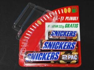 Blistere pentru batoane ciocolata Snikers blistere batoane snikers Blistere batoane Snikers blistere pentru lipit pe carton 206 1