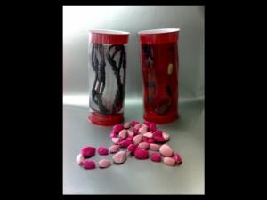 Cutii cilindrice pentru margele cutii cilindrice margele Cutii cilindrice margele ambalaj din plastic pentru margele 456 4 300x225