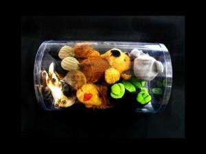 Cilindri pentru jucarii cutii cilindrice Cutii cilindrice plusuri ambalaj din plastic transparent pentru plusuri si papusi 281 12 300x225