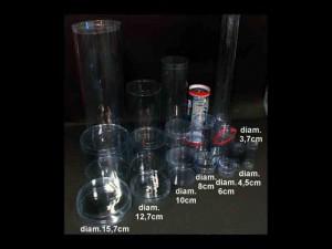 Cilindri din plastic cilindri lumanari Cilindri lumanari ambalaje rotunde plastic transparent 466 3