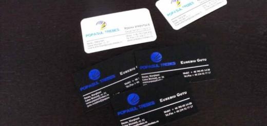 Carti de vizita imprimate cu cerneala gonflabila