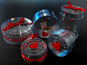 Cutii cilindrice pen tru Valentine's Day