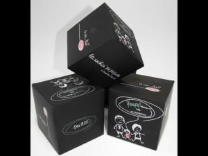 Cutii sub forma de cuburi invitatii nunta forma cub Invitatii nunta forma cub cuburi din hartie 268 3 1