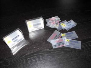 Cutii plastic pentru carti de vizita