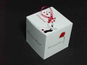 Invitatii forma de cub pentru invitatii invitatii nunta forma cub Invitatii nunta forma cub invitatii nunta 268 5