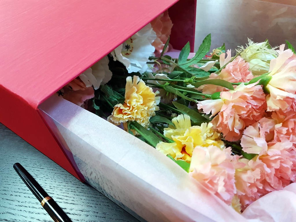 Cutie rigida de lux pentru flori - 4