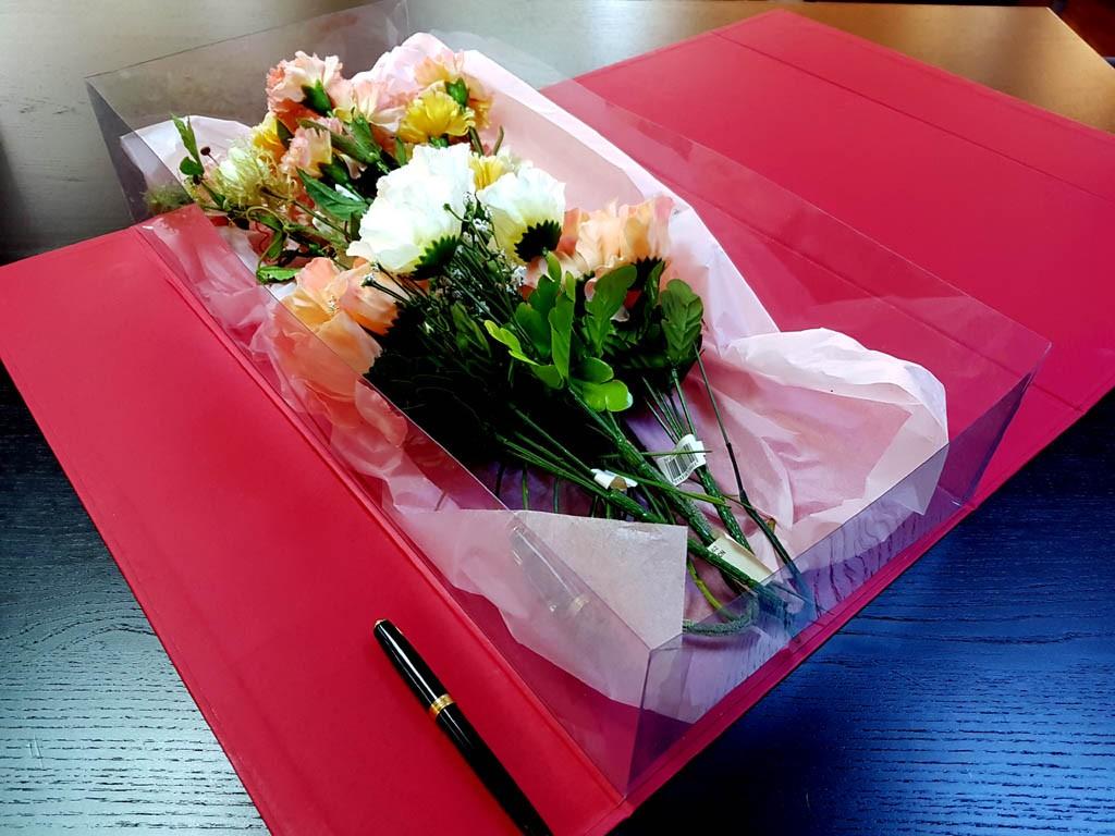 Cutie rigida de lux pentru flori - 5