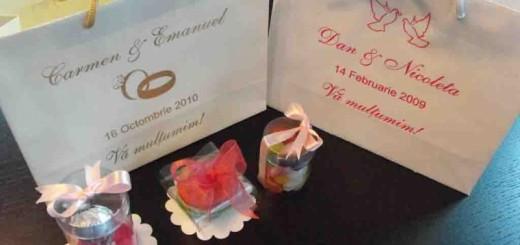 sacose personalizate marturii de nunta