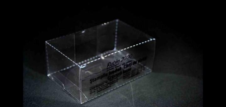 cutie transparenta plastic