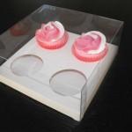 cutie Cutie pentru 4 prajituri, cupcakes, muffins, briose cutie plastic cupcakes 1667 3 150x150