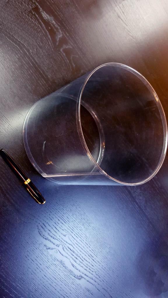 Cilindri transparenti cu margini indoite - 1