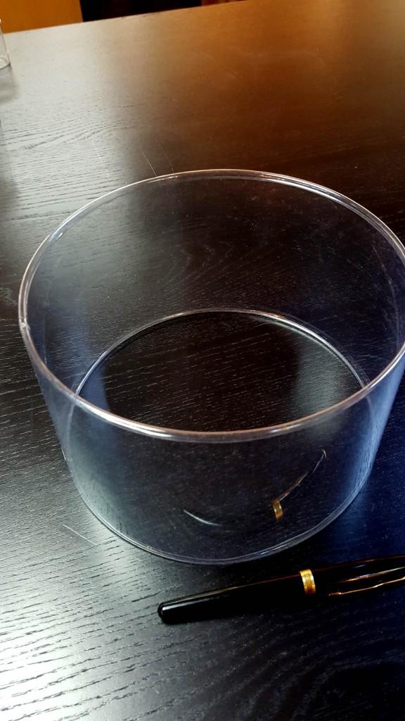 Cilindri transparenti cu margini indoite - 2